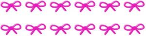 フリー素材:ヘッダー:800pixサイズ;大人かわいいピンクのリボンのwebデザイン素材