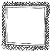 バナー広告・アイコンのフリー素材:モノクロの大人かわいい手編みレース風飾り枠。バレンタイン、ホワイトデーのwebデザイン素材