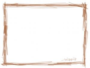 ネットショップ、webデザインのフリー素材:大人かわいい茶色のシンプルな鉛筆風ラインの飾り枠のガーリーなwebデザイン素材