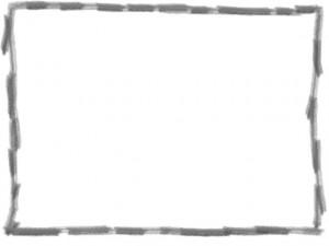 ネットショップ、webデザインのフリー素材:大人可愛いグレーの鉛筆風ラインの囲み枠(フレーム)