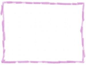 ネットショップ、webデザインの飾り枠のフリー素材:大人可愛いピンクの色鉛筆風の手描き封のラフな飾り枠(640×480pix)