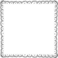 ネットショップのバナー広告、アイコンのwebデザイン素材:大人可愛いレースのラインの飾り枠(200×200pix)