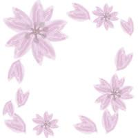 薄いピンク色のガーリーな桜のフレームのwebデザイン素材。アイコン(twitter,mixi,ブログ)制作に。(200×200pix)