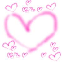 アイコン(twitter,mixi,ブログ)のwebデザイン素材:ガーリーなピンクの大小のハートいっぱいのイラストのフリー素材