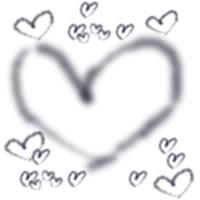 大人可愛いモノクロのハートいっぱいの飾り枠のwebデザイン素材。アイコン(twitter,mixi,ブログ)、壁紙のフリー素材(200×200pix)