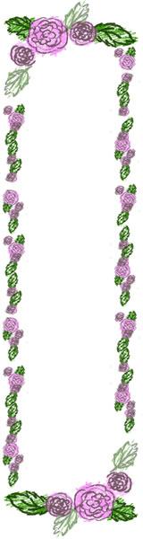 ネットショップのバナー広告のwebデザイン素材:ラブリーなピンクのバラのイラストの飾り枠のフリー素材(160×600pix)