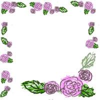 ネットショップのバナー広告のwebデザイン素材:ラブリーなピンクのバラの飾り枠のフリー素材(200×200pix)
