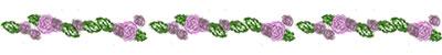 ネットショップ、バナー広告のwebデザイン素材:ラブリーなピンクのバラの飾り罫のフリー素材
