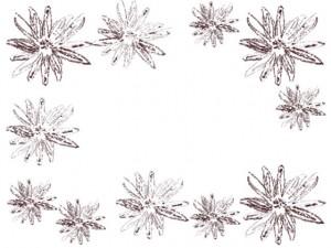 バナー広告、ネットショップのwebデザイン素材:大人可愛い茶色のレトロな花(マーガレット)の飾り枠のフレーム素材(640×480pix)