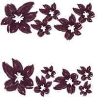 ネットショップ、バナー広告のwebデザイン素材:大人可愛い紫の花の飾り枠。アイコン(母の日,父の日)のwebデザインに(200×200pix)