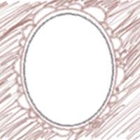 ネットショップ、バナー広告のアイコンのwebデザイン素材:ガーリーな茶色の花びらみたいなフレームのアイコン(twitter,mixi)のwebデザインに(200×200pix)