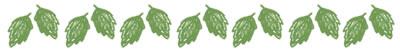 ネットショップ、バナー広告のwebデザイン素材:大人可愛い葉っぱいっぱいの飾り罫