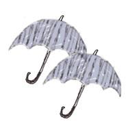 6月のバナー広告、アイコン(twitter,mixi)のwebデザイン素材:ガーリーなモノクロのストライプの傘のイラストのフリー素材(200×200pix)