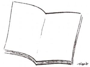 webデザイン、バナー広告、ネットショップのフリー素材:大人可愛いモノクロのノートのイラスト(640×480pix)