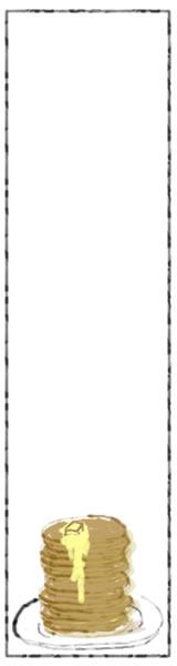 バナー広告のwebデザイン素材:大人可愛い10枚重ねのホットケーキのイラストのフリー素材(160×600pix)