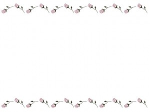 webデザイン、バナー広告、ネットショップのフリー素材:大人可愛い薔薇(バラの花)の飾り罫のフレーム(640×480pix)