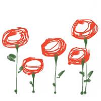 web制作、ネットショップ運営、バナー広告のアイコン(twitter,mixi)、webデザイン素材:ガーリーな赤い花のwebデザイン素材(200×200pix)