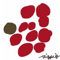 web制作、ネットショップ運営、webデザインのフリー素材:アイコン(twitter,mixi);大人かわいい北欧風の花みたいな水玉のイラスト