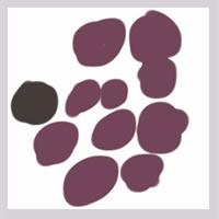 web制作、ネットショップ運営、webデザインのフリー素材:アイコン(twitter,mixi);大人かわいいくすんだ紫色の北欧風の花みたいな水玉のイラスト