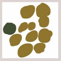 web制作、ネットショップ運営、webデザインのフリー素材:アイコン(twitter,mixi);大人かわいいモスグリーンの北欧風の花みたいな水玉のイラスト