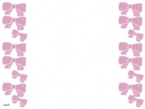 ホームページ、ネットショップ、web制作のwebデザイン素材:大人可愛いピンクのリボンいっぱいのフレームのフリー素材(640×480pix)