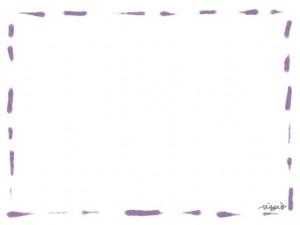 フリー素材:フレーム・飾り枠:640×480pix;大人かわいいくすんだ薄紫のステッチの飾り枠のwebデザイン素材