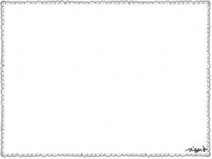 ネットショップ、夏のエコ、節電のかわいいwebデザインのフリー素材:大人かわいレースのハンカチみたいなイラストのフレーム素材(飾り枠)640×480pix