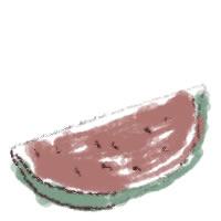 アイコン(twitter,mixi,ブログ)のフリー素材:和風のカットスイカのガーリーな夏の季節のwebデザイン素材