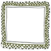 アイコン(twitter,mixi,ブログ)のフリー素材:ガーリなモスグリーンの手編みレースのイラストのwebデザイン素材