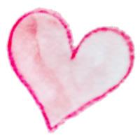 フリー素材:アイコン:ガーリーで大人かわいい赤い水彩色鉛筆のハートのイラスト