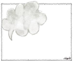 フリー素材:フレーム:大人かわいいポップ水彩のふきだしとシンプルなレースの飾り枠;300×250pix
