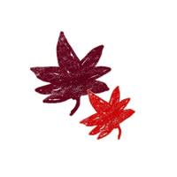 フリー素材:壁紙,アイコン:ガーリーで大人かわいい紅葉の無料イラスト;200×200pix