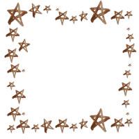 フリー素材:アイコン(twitter,mixi,ブログ)のフレーム;大人可愛い茶色の水彩の星いっぱいの飾り枠;200×200pix
