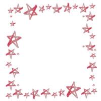 フリー素材:アイコン(twitter,mixi,ブログ)のフレーム;大人可愛いピンクの水彩の星いっぱいの飾り枠