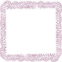 フリー素材:アイコン(twitter,mixi,ブログ);大人可愛いベリーみたいなピンク色のレースの飾り枠;200×200pix