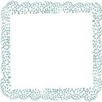 フリー素材:アイコン(twitter,mixi,ブログ);大人可愛いパステルグリーンのレースの飾り枠;200×200pix
