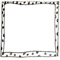 フリー素材:アイコン(twitter,mixi,ブログ);モノクロの水玉のガーリーなフレーム;200×200pix