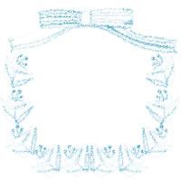 フリー素材:北欧風の花と葉とパステルブルーのストライプのりぼんの飾り枠;アイコン(twitter,mixi,ブログ)200×200pix