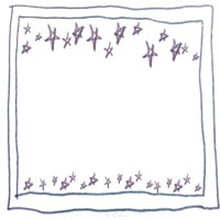 フリー素材:アイコン(twitter);モノクロの鉛筆の手描きの星とラフなラインが大人可愛いフレーム;200×200pix