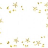 フリー素材:フレーム;北欧アンティーク風デザインの大人可愛い星いっぱいの飾り枠;640×480pix