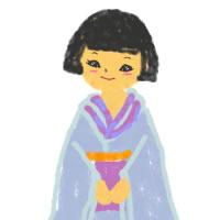フリー素材:アイコン(twitter):ポップでガーリーなおかっばと着物の女の子;200×200pix