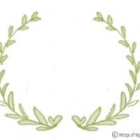 フリー素材:フレーム;シャーベットカラーの葉っぱの飾り枠;640×480pix