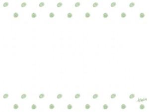 フリー素材:フレーム;大人可愛いシャーベットカラーのグリーンのドットの飾り罫;640×480pix