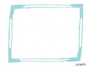 大人可愛いシャーベットカラーの大人可愛いフレームのフリー素材;640×480pix