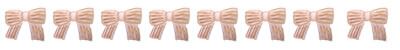 森ガール風の水彩のストライプのリボンいっぱいの飾り罫のフリー素材