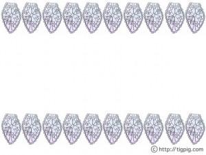 フリー素材:フレーム;森ガール風モノトーンの鉛筆画のレースのライン;640×480pix