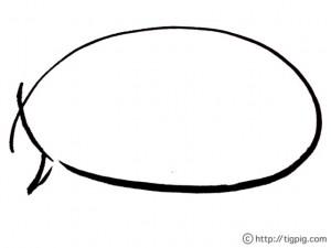 和ガール風の毛筆のラフなラインの吹出しのフリー素材:フレーム;640×480pix