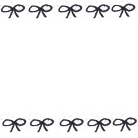 フリー素材:アイコン(twitter可);大人可愛いモノトーンのスタンプ風の質感のリボンのライン;200×200pix
