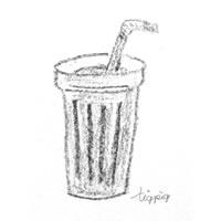 フリー素材:アイコン(twitter可);大人可愛いカフェ風ジュース(コーヒー);200×200pix