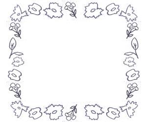 フリー素材:バナー広告;北欧風の大人可愛いモノトーンの花のフレーム:300×250pix